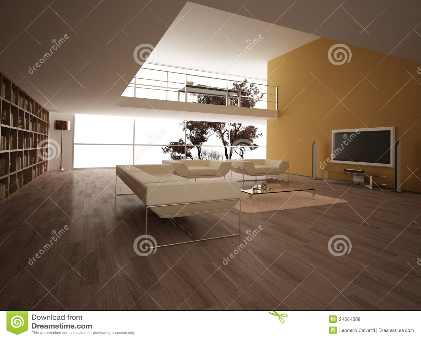 sala de estar grande moderna
