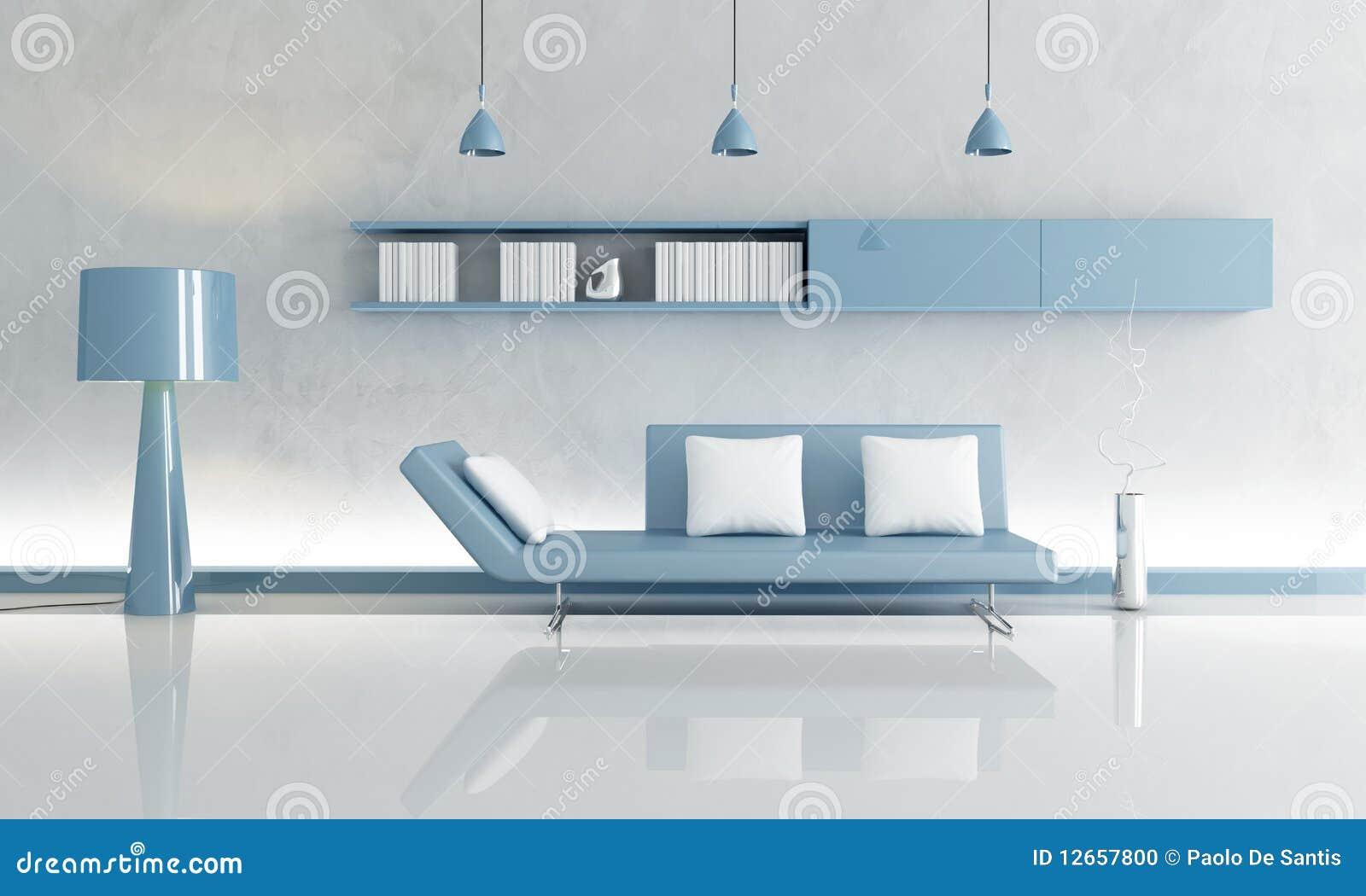 Sala de estar gris y azul foto de archivo imagen 12657800 for Sala gris con azul