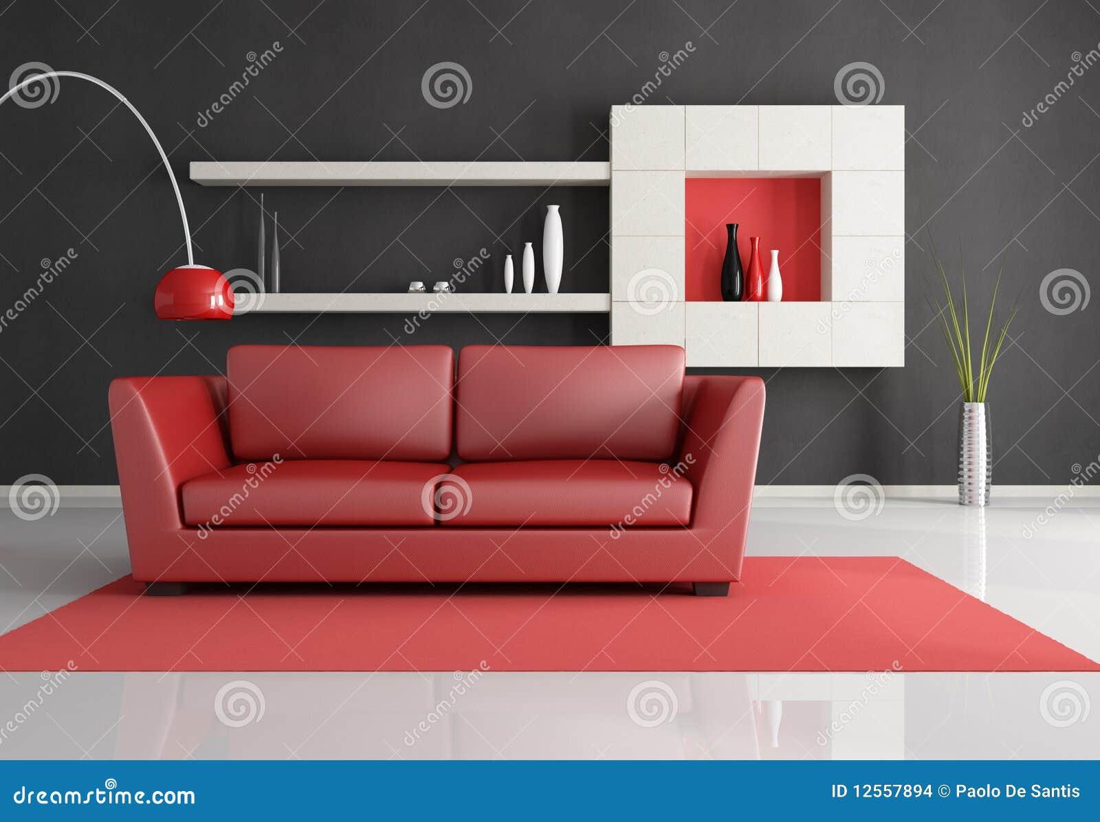 Baño Minimalista Rojo:Sala De Estar Minimalista Imagenes de archivo – Imagen: 12557894