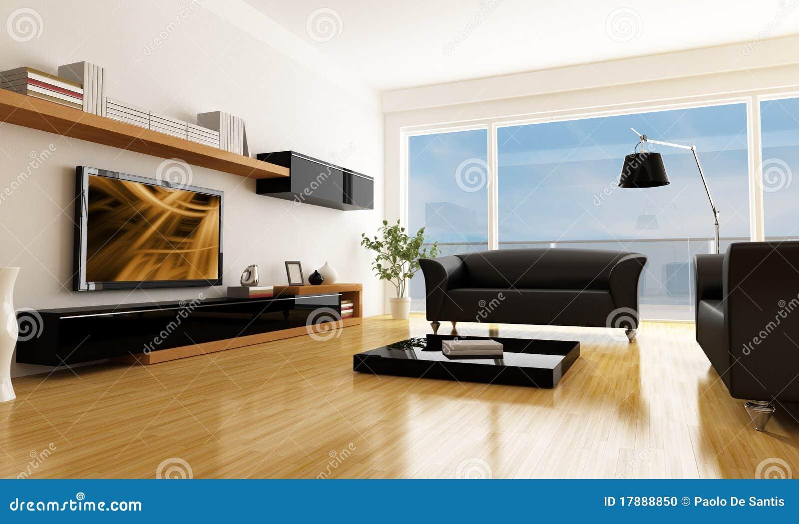 Sala De Estar Moderna Com Tv ~ Sala De Estar Moderna Foto de archivo  Imagen 17888850