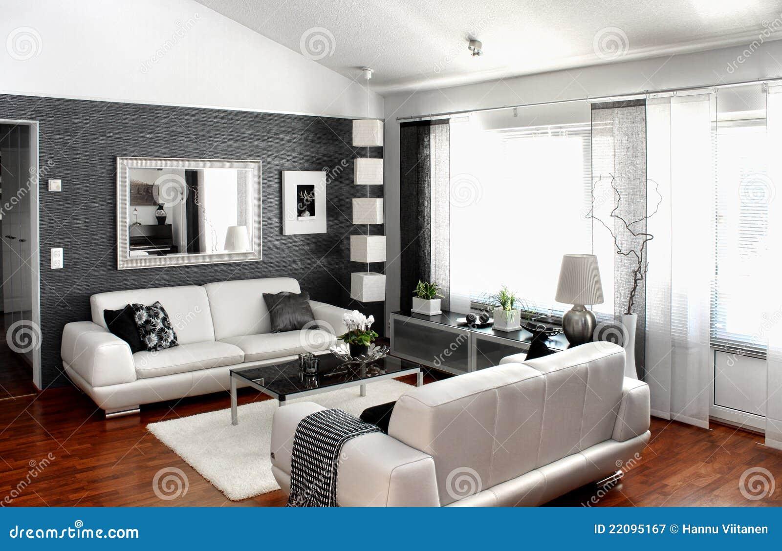 Sala de estar moderna fotograf a de archivo libre de for Sala de estar modernos