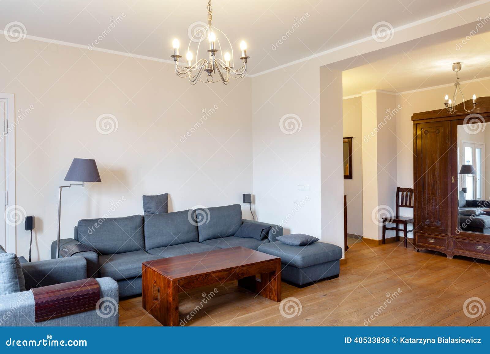 Sala de estar moderna con los elementos del vintage foto for Sala de estar retro vintage