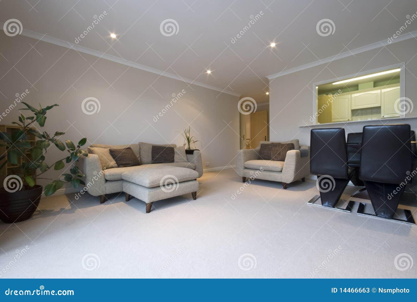 Sala de estar moderna con muebles contempor neos fotos de for Muebles para sala de estar modernas