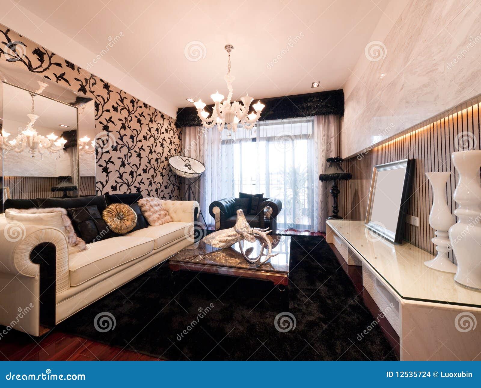 sala de estar moderna de lujo imagenes de archivo imagen