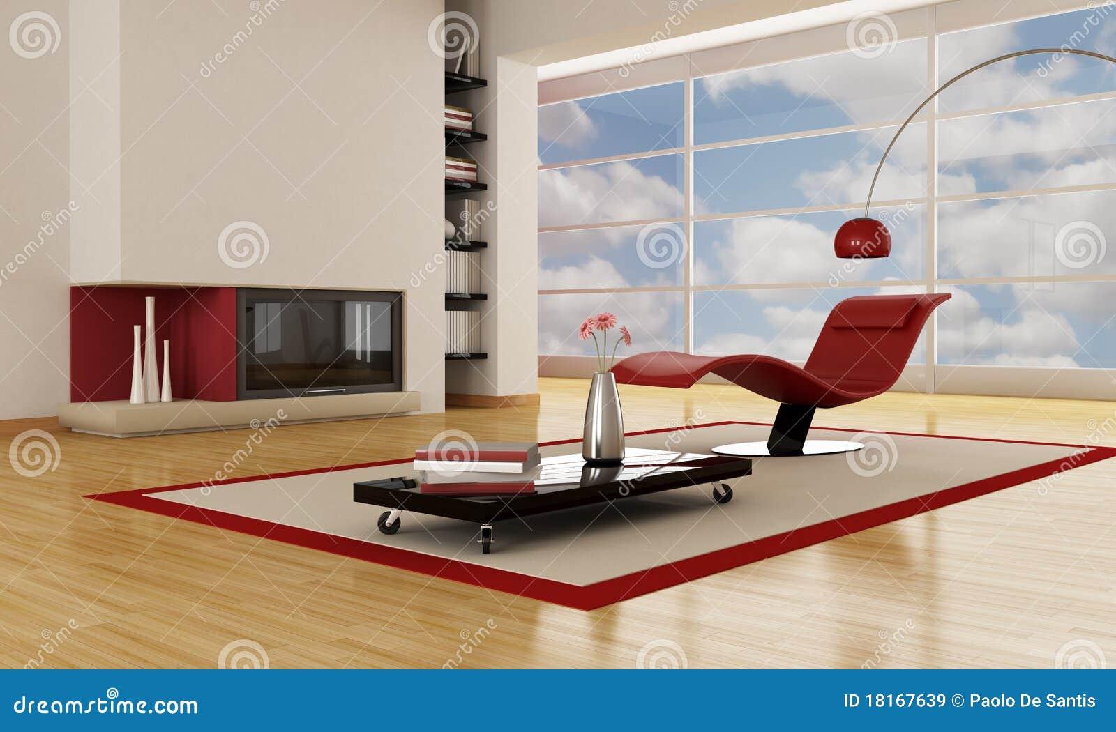Sala de estar moderna de lujo