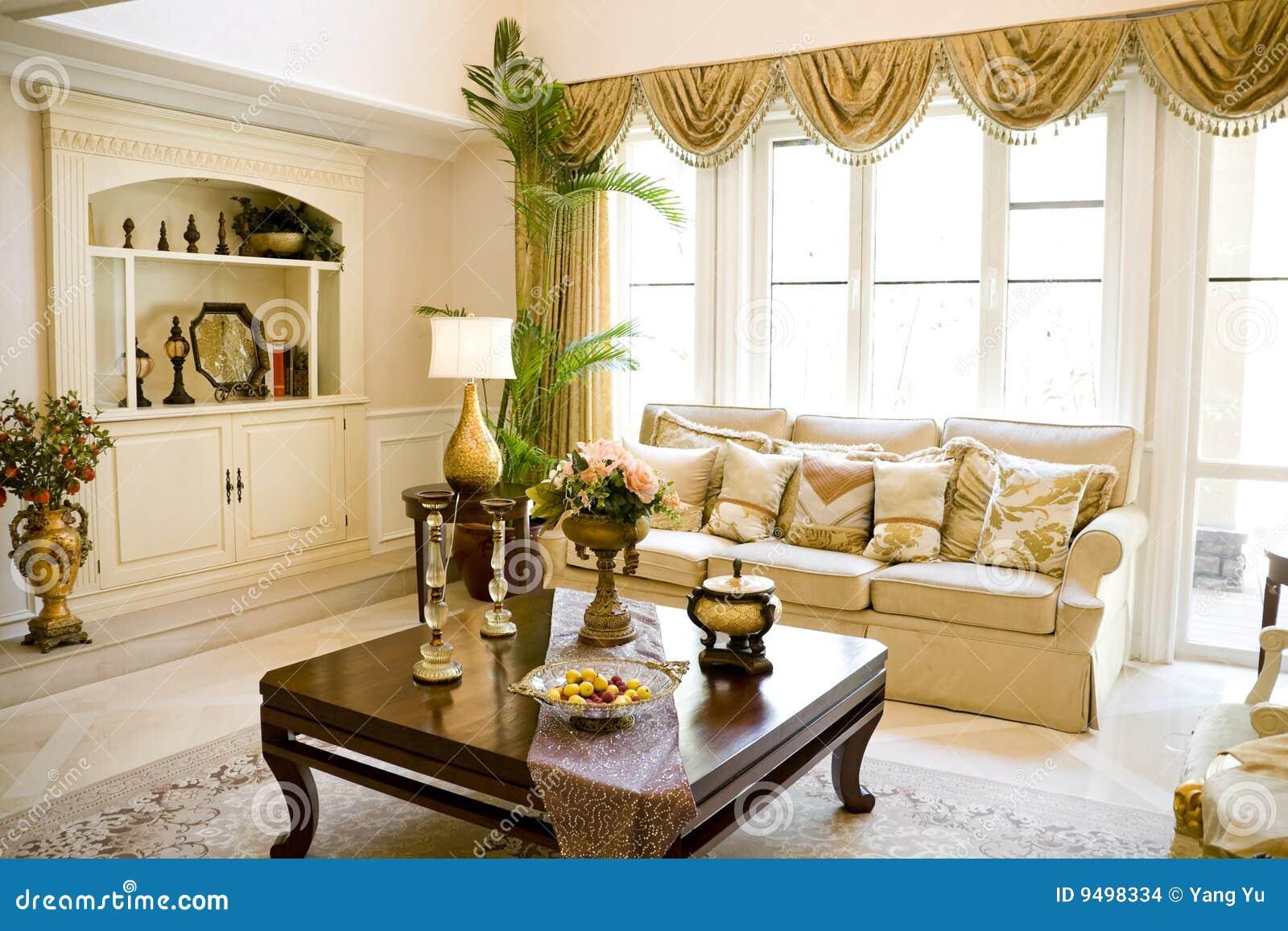 Sala de estar moderna de lujo foto de archivo imagen for Salas grandes decoracion