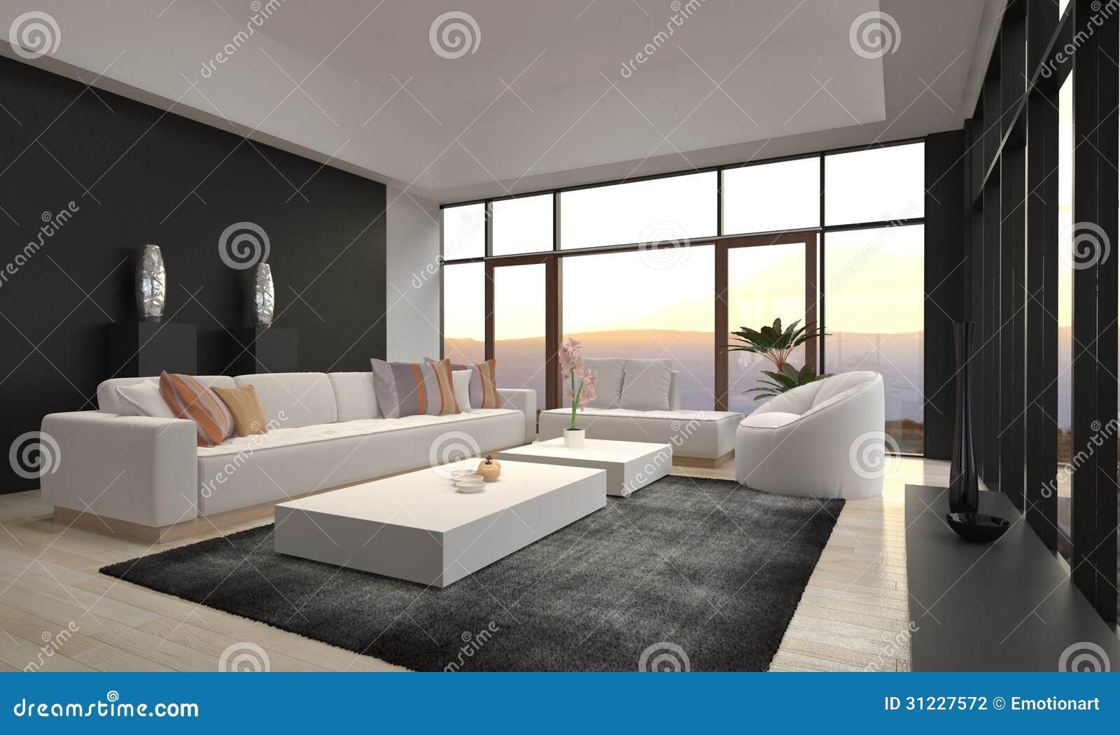 Sala de estar moderna impresionante del desván | Interior de la arquitectura