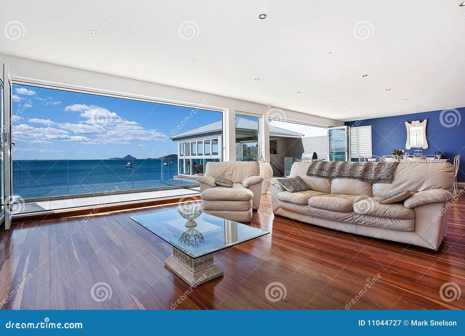 Sala de estar moderna lujosa