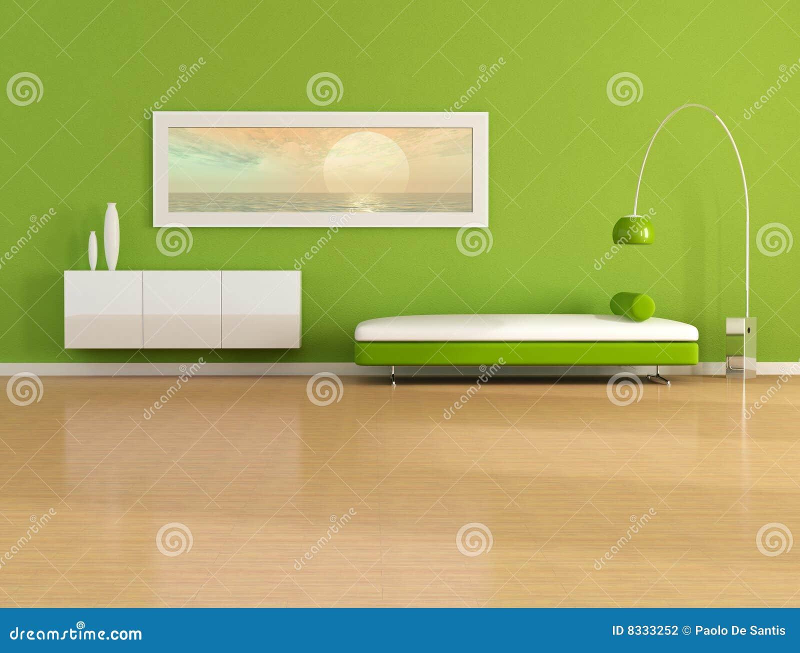Sala De Estar Verde ~ Sala de estar verde con el cuadro de la puesta del sol