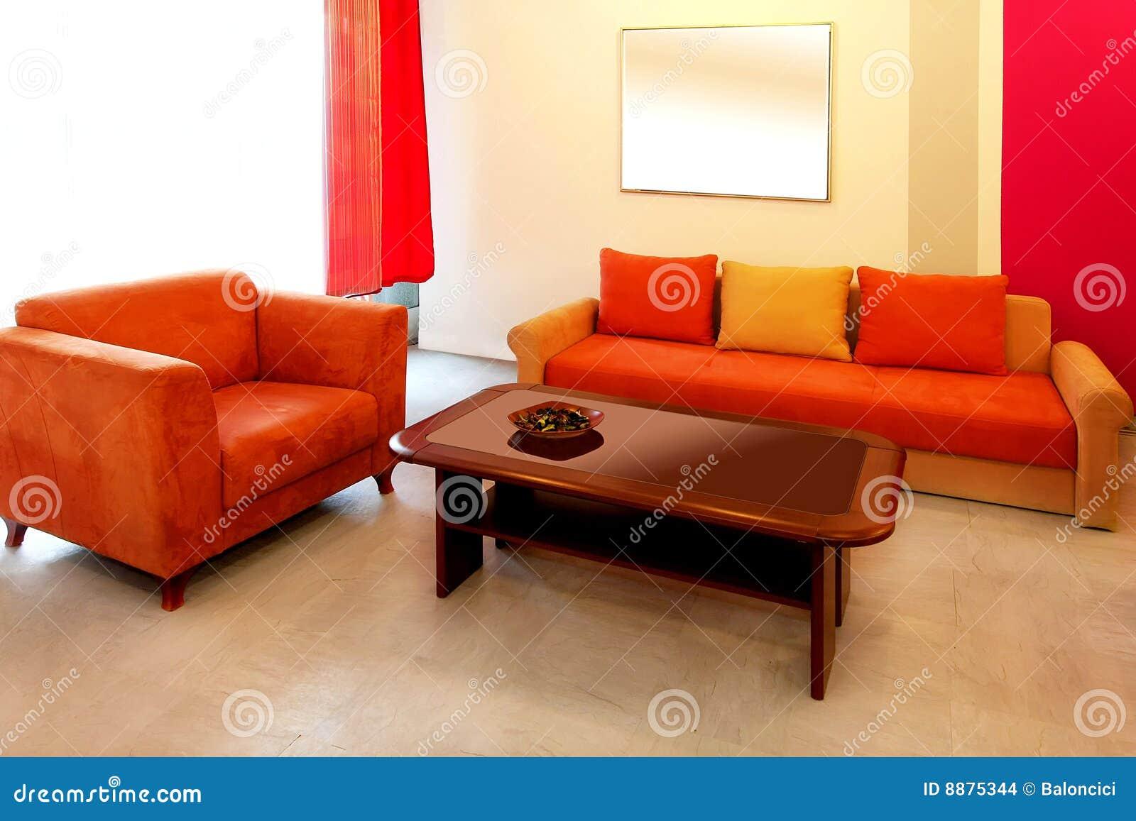 sala de estar roja imagenes de archivo imagen 8875344