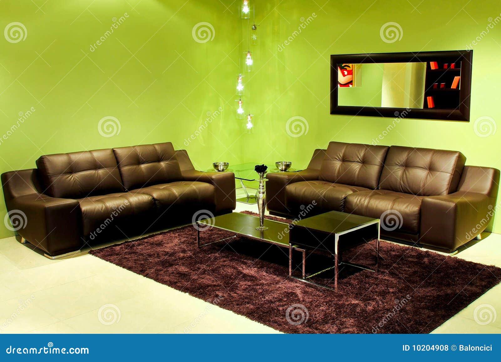 Sala De Estar Verde ~ Fotos de archivo libres de regalías Sala de estar verde