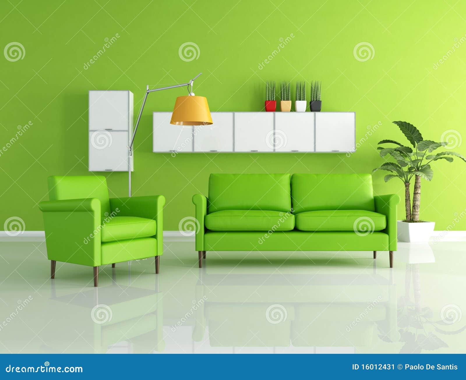 sala de estar verde imagem de stock imagem 16012431. Black Bedroom Furniture Sets. Home Design Ideas