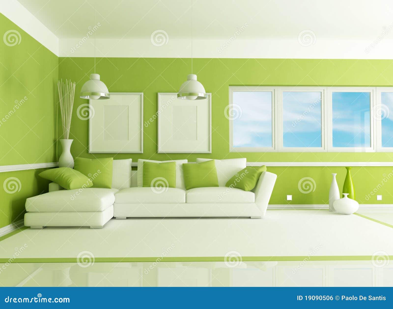 Sala De Estar Com Verde ~ Sala De Estar Verde Imagen de archivo libre de regalías  Imagen