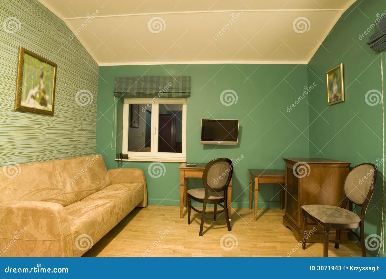 Sala De Estar Com Verde ~ Sala De Estar Verde Fotos de archivo  Imagen 3071943