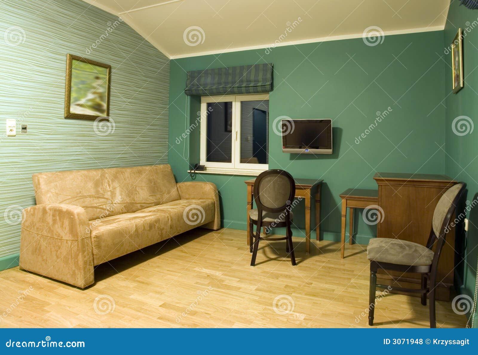 Sala De Estar Com Verde ~ Sala De Estar Verde Fotos de archivo libres de regalías  Imagen