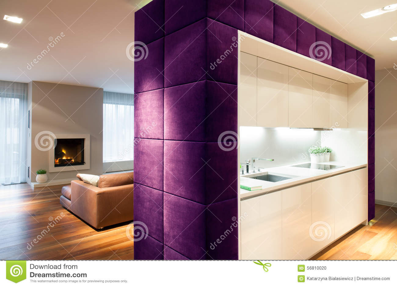 Sala de estar y cocina foto de archivo imagen de gr fico for Sala de estar estancia cocina abierta