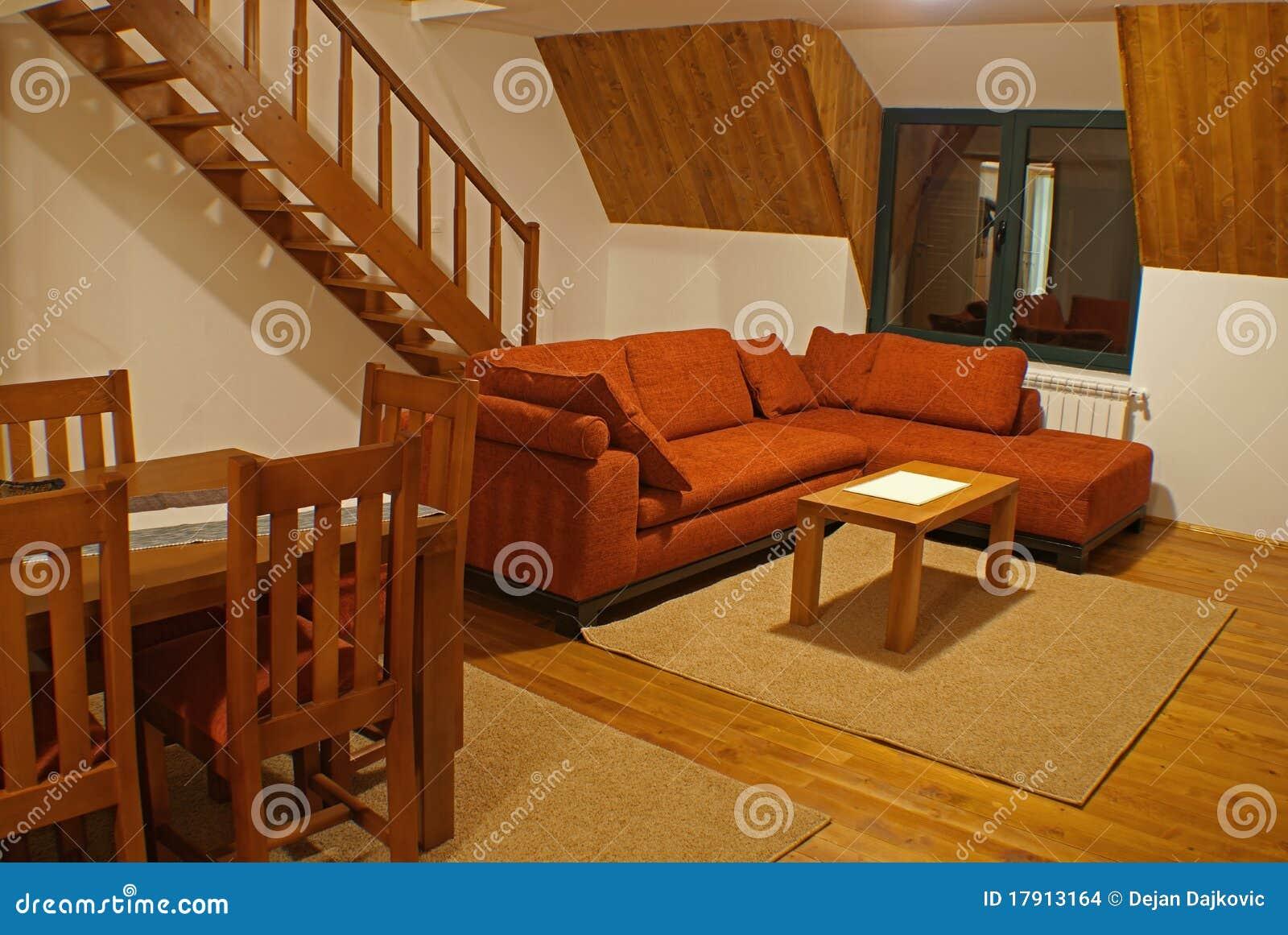 Sala de estar y escaleras imagenes de archivo imagen for Escaleras en salas