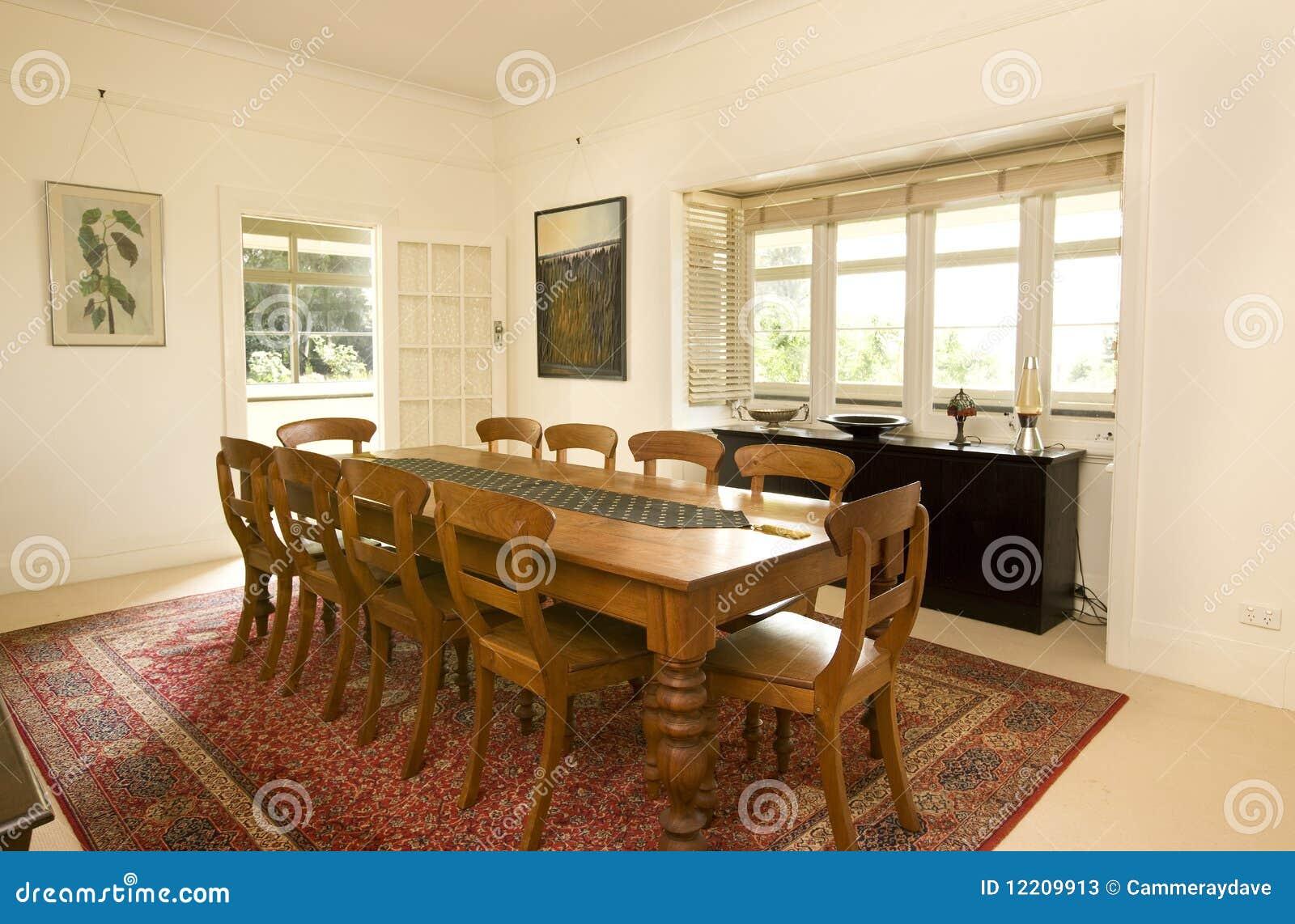 Sala de jantar da casa de campo