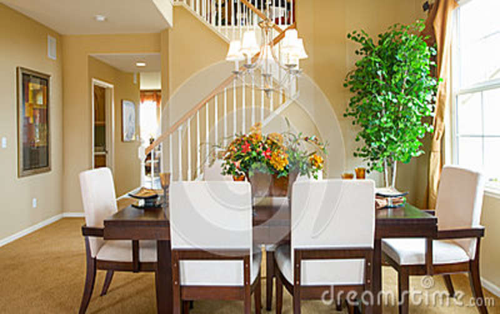 Sala de jantar home residencial