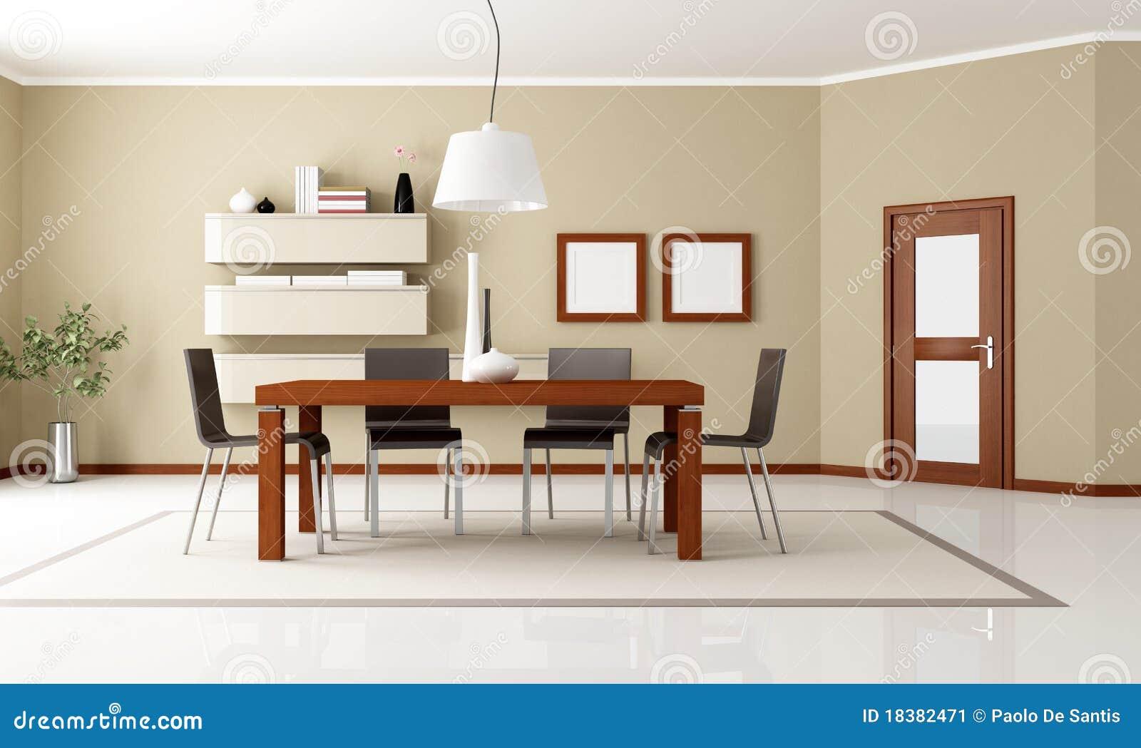 Sala de jantar moderna elegante ilustra o stock for Arredamento sala moderna