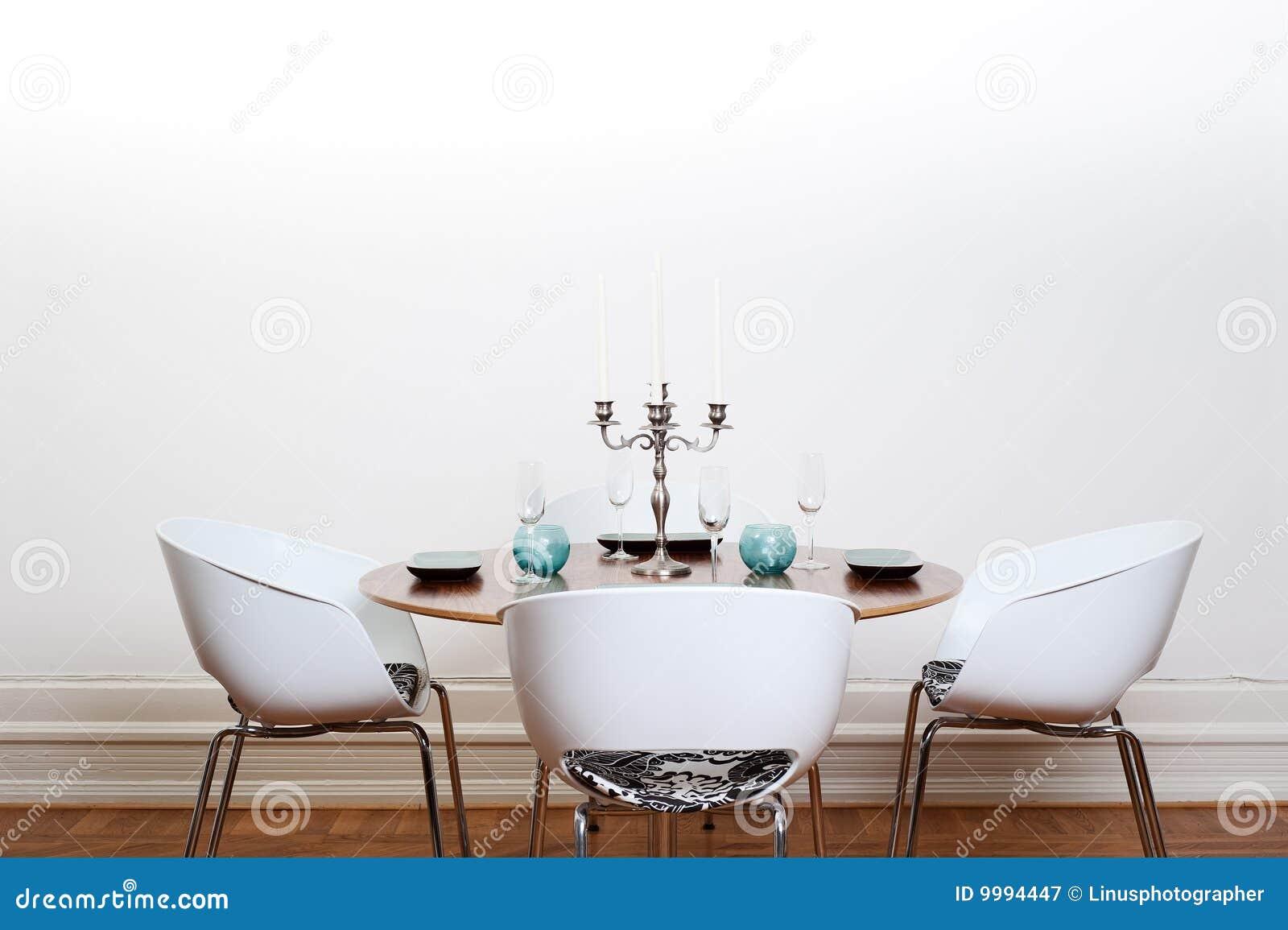 Sala de jantar moderna mesa redonda fotografia de stock - Mesas redondas modernas ...