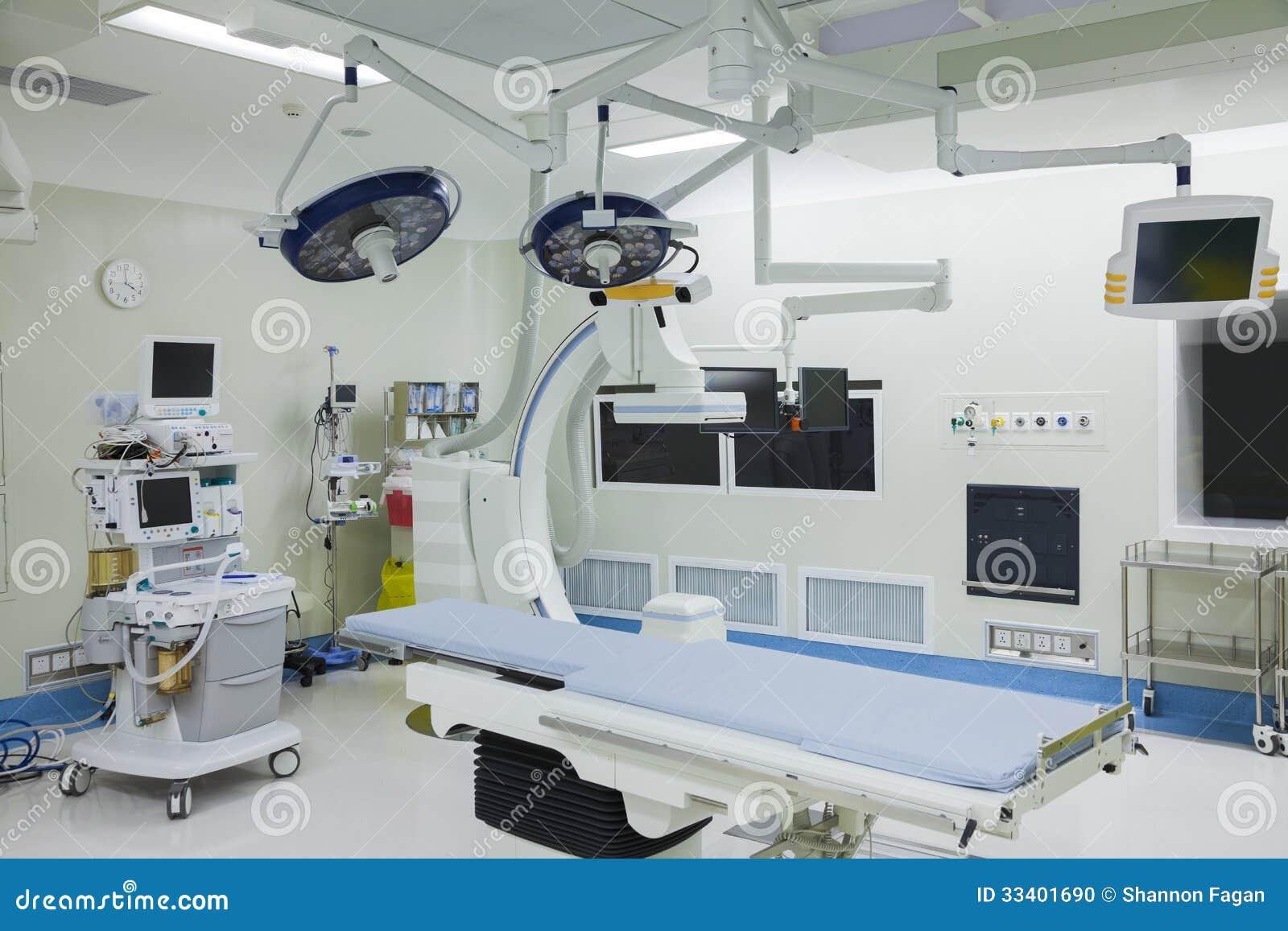 Sala de operaciones con el equipo quirúrgico, hospital, Pekín, China