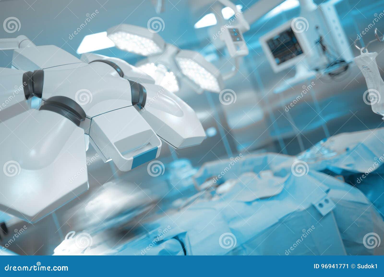 Sala de operaciones equipada moderna en hospital