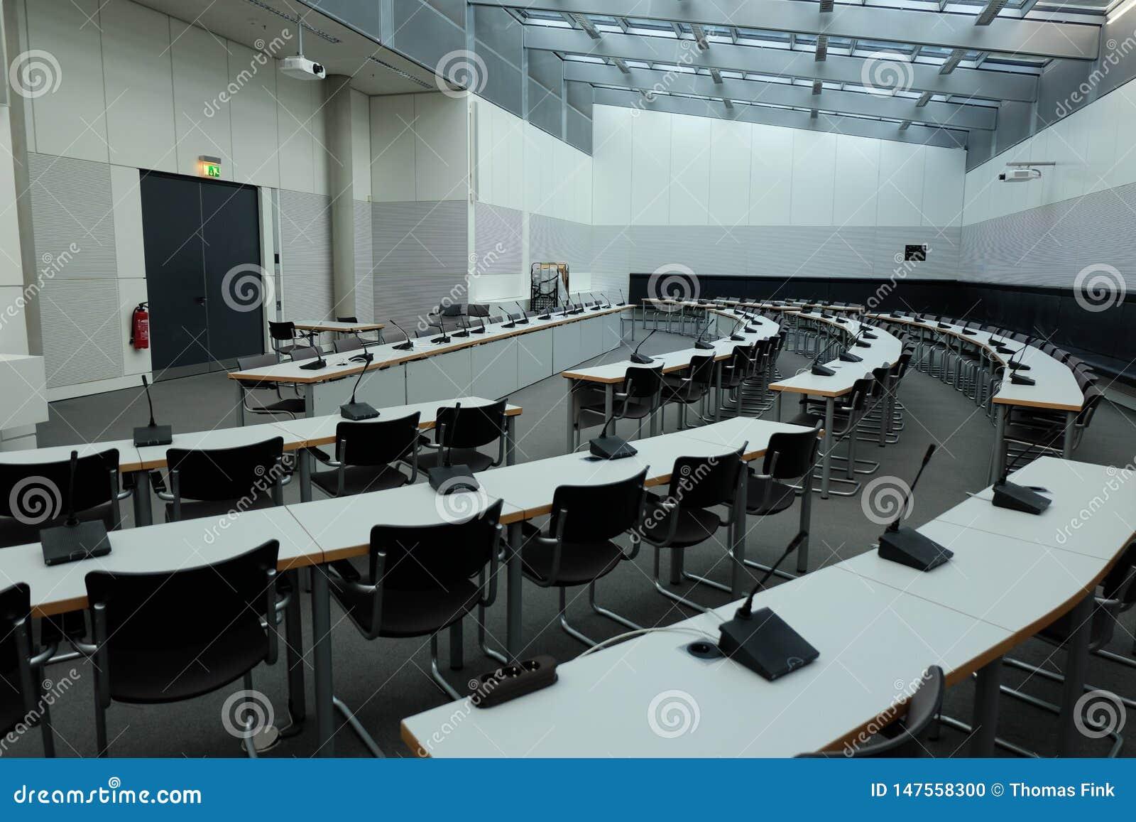 Sala de reunião dentro do Bundestag