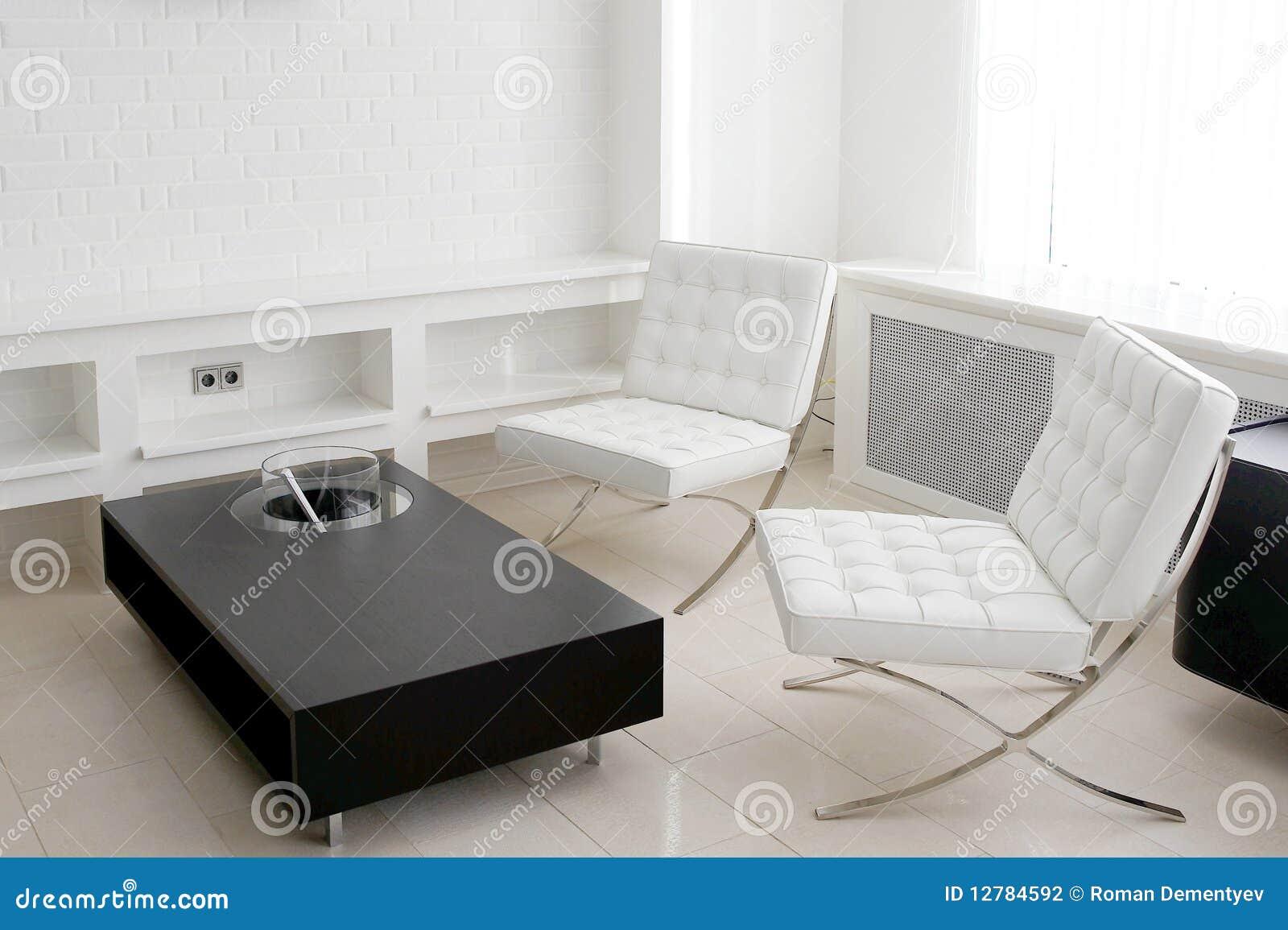 Sala de reunión con los muebles de cuero