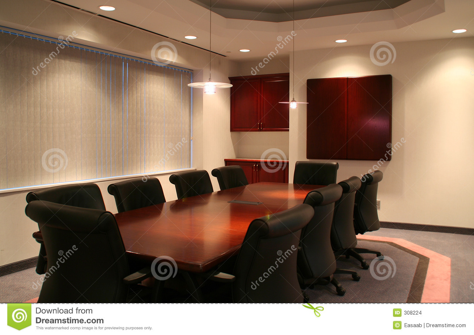 A sala de reuniões