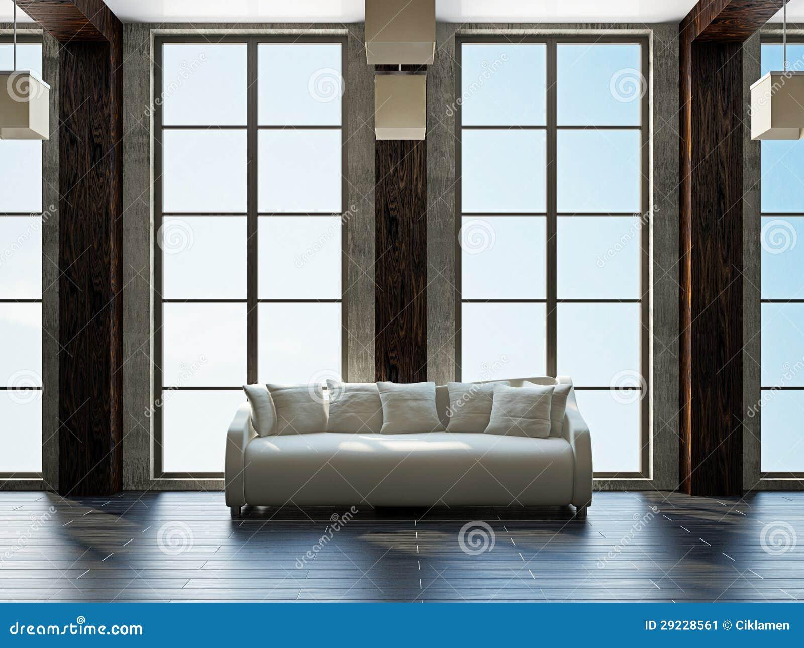 Download Sala De Visitas Com Mobília Ilustração Stock - Ilustração de cozy, contemporary: 29228561