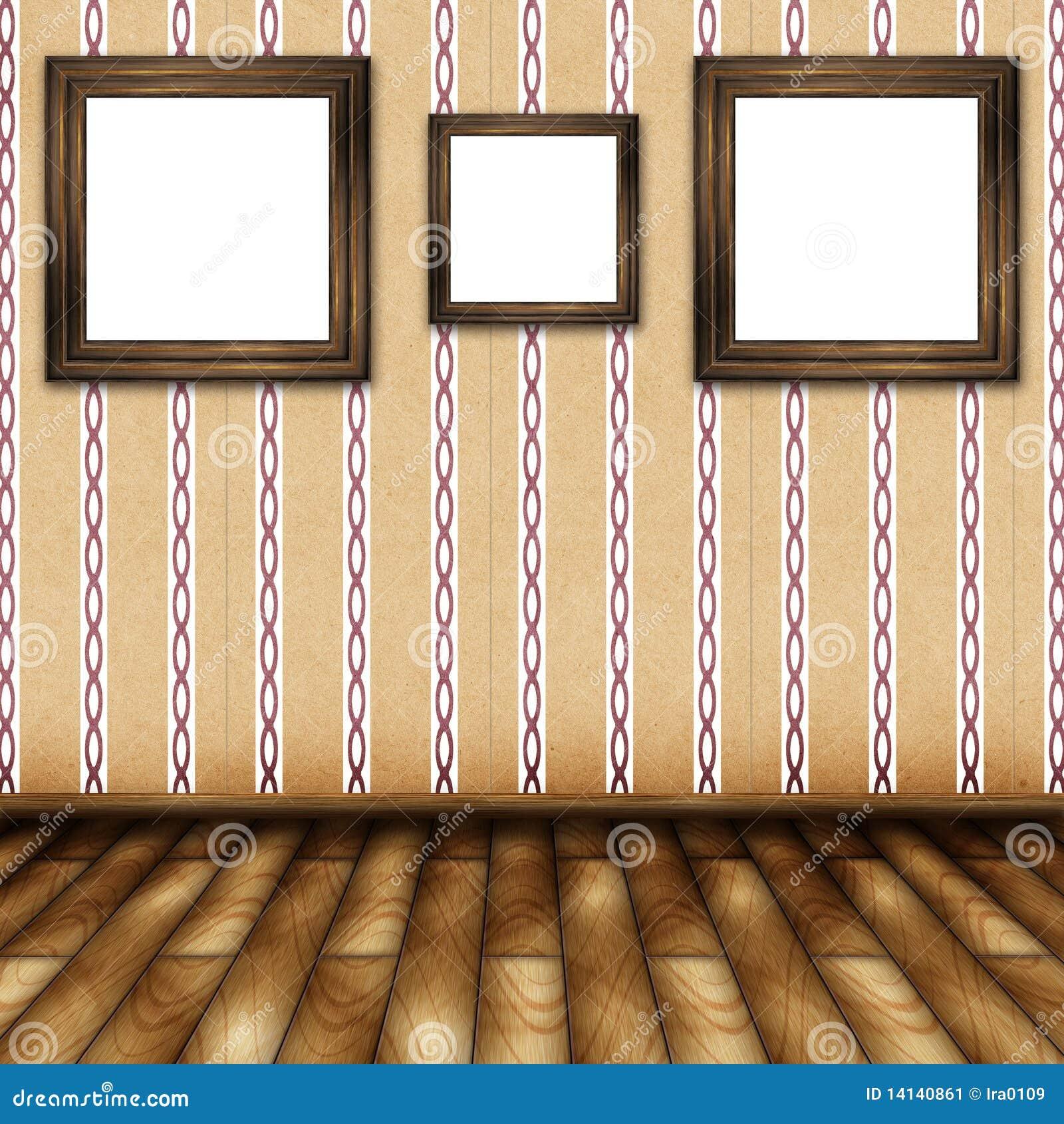Sala De Visitas Com Pinturas Na Parede Imagem de Stock  Imagem