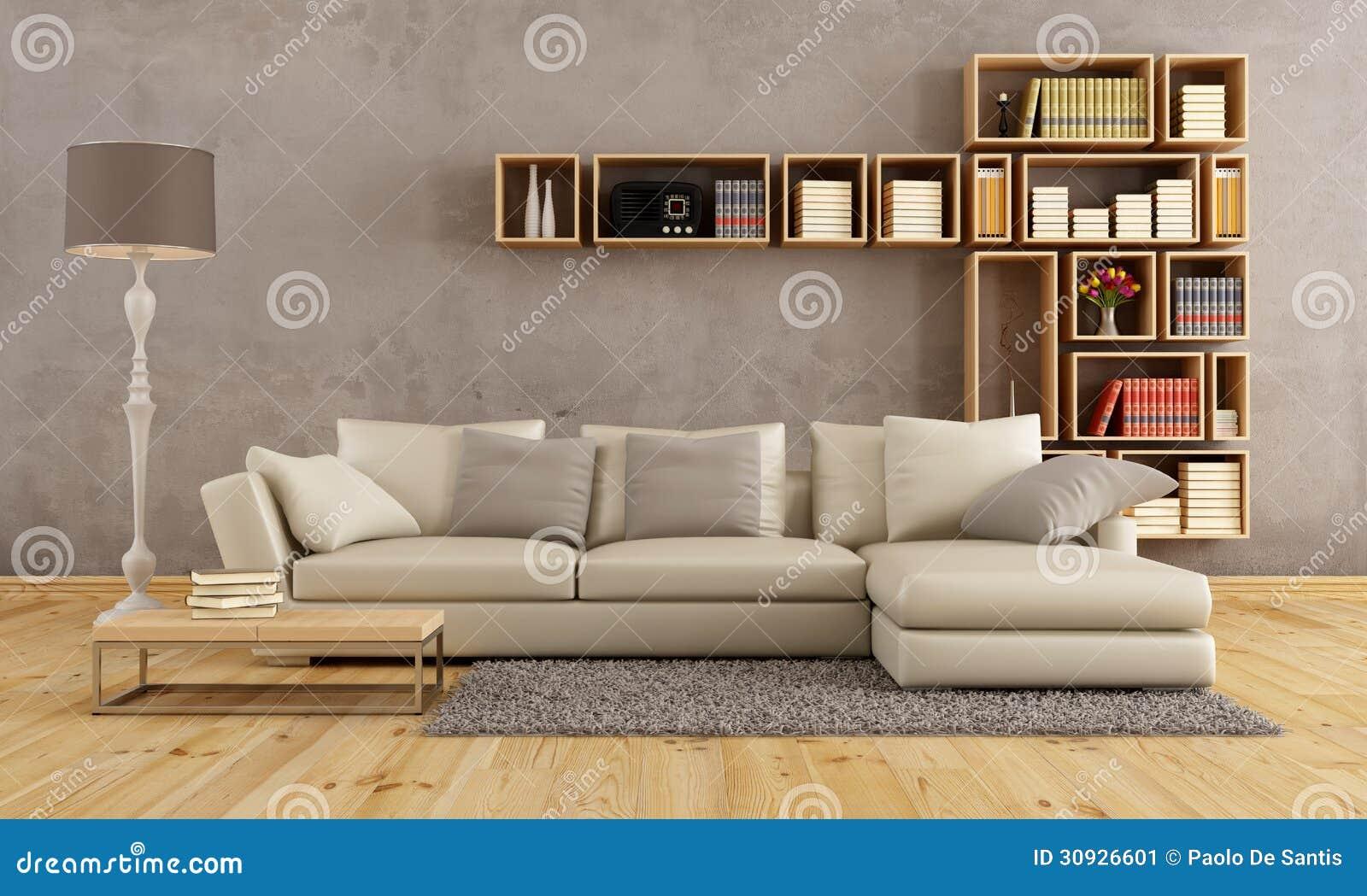 Sala de visitas com sof elegante imagem de stock imagem for Sofa elegante