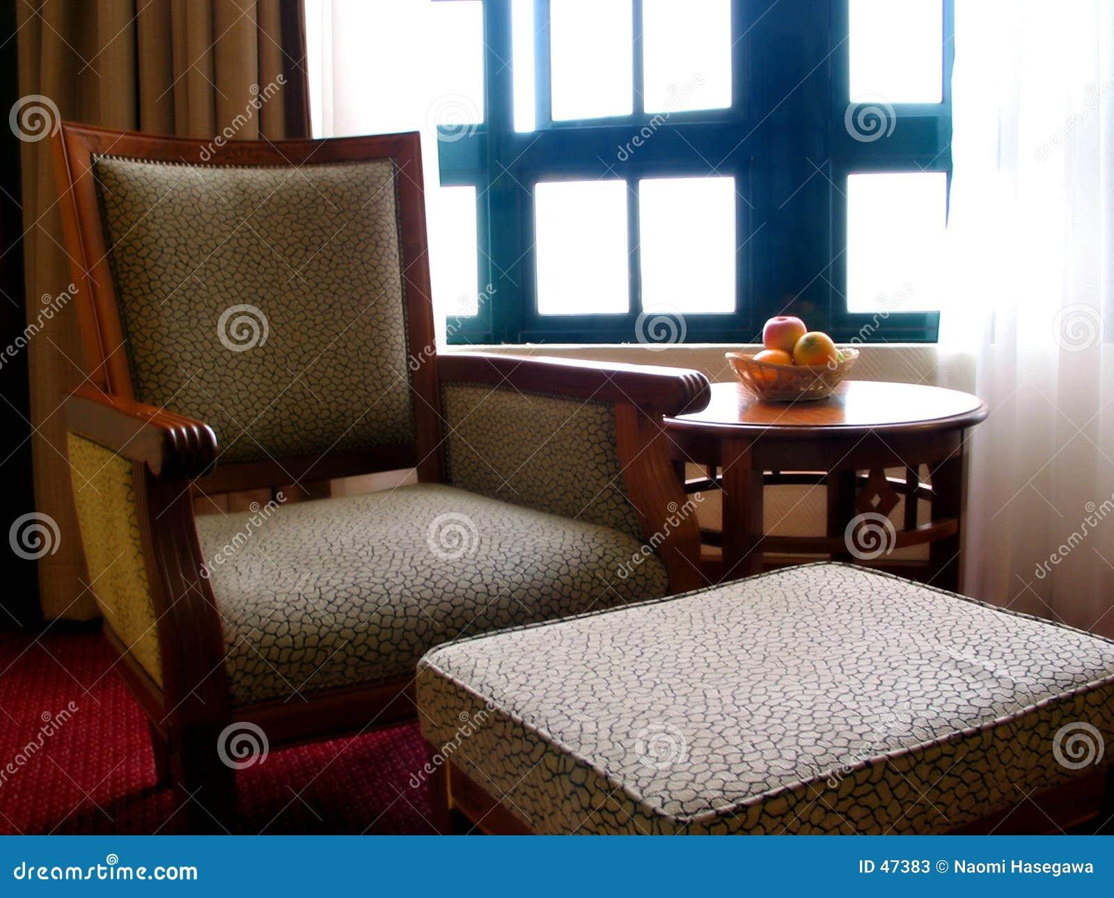 Sala de visitas do hotel