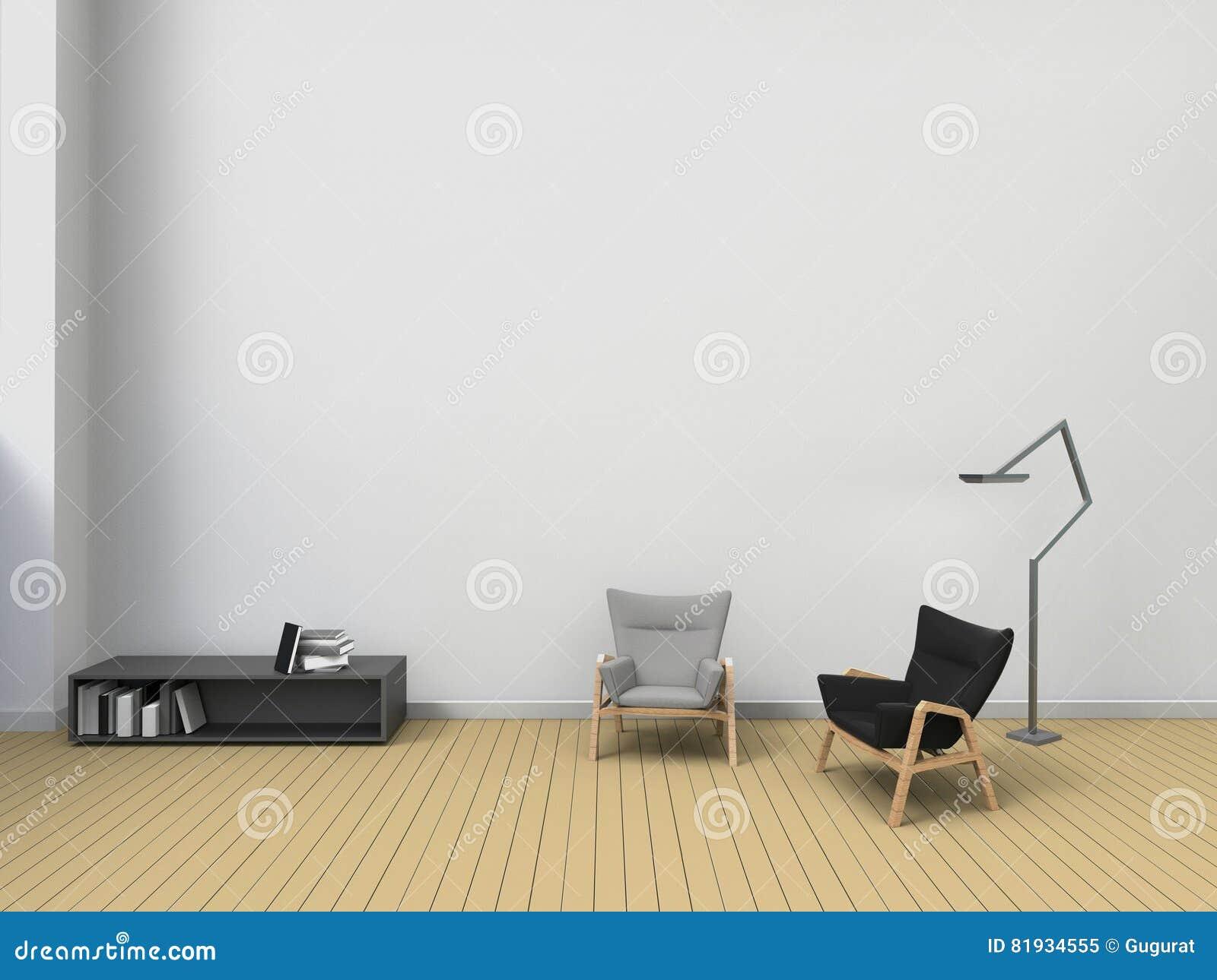 Sala De Visitas Moderna E Decora O Das Cadeiras Na Parede Exposi O