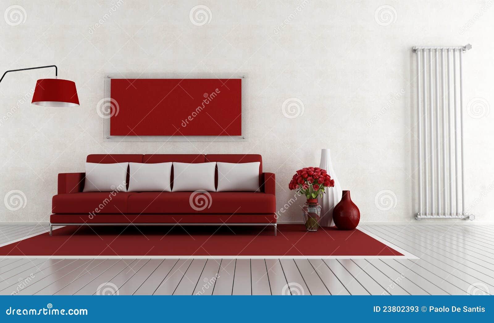 decoracao de sala vermelha e brancaRed and White Living Room