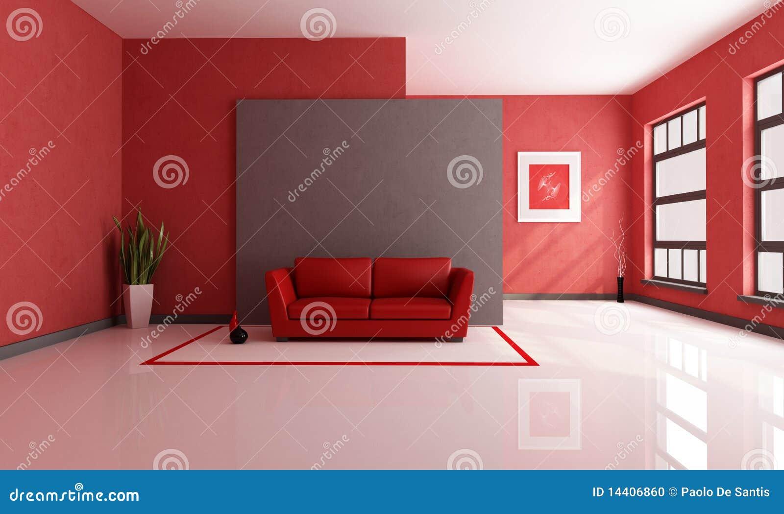 Sala De Visitas Vermelha E Marrom Foto de Stock  Imagem 14406860