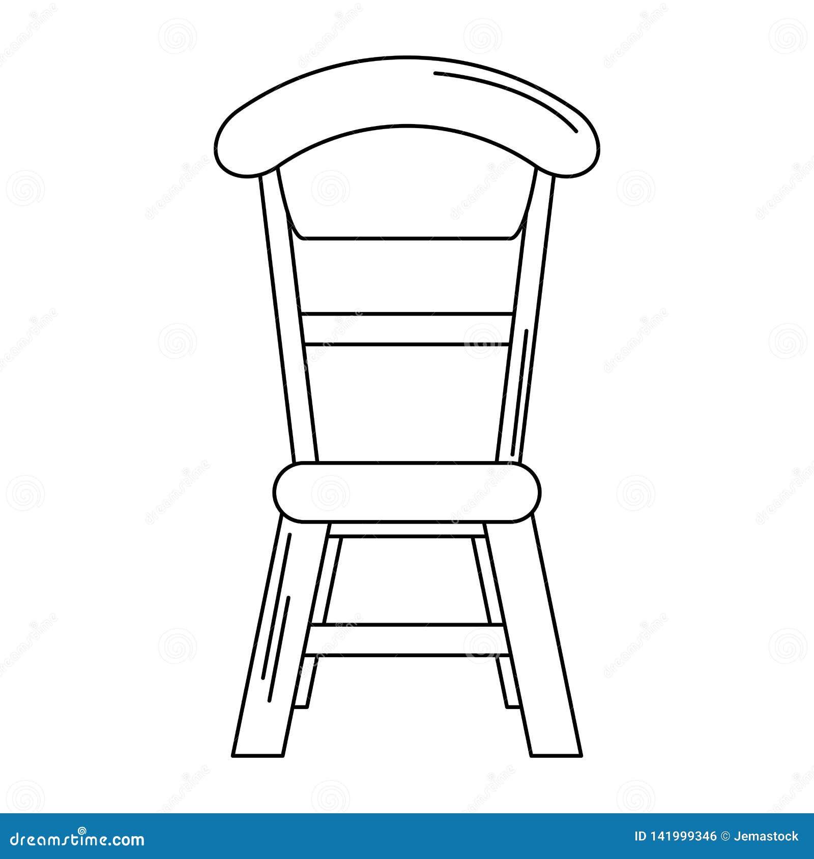 Sala dinning da cadeira de madeira isolada em preto e branco