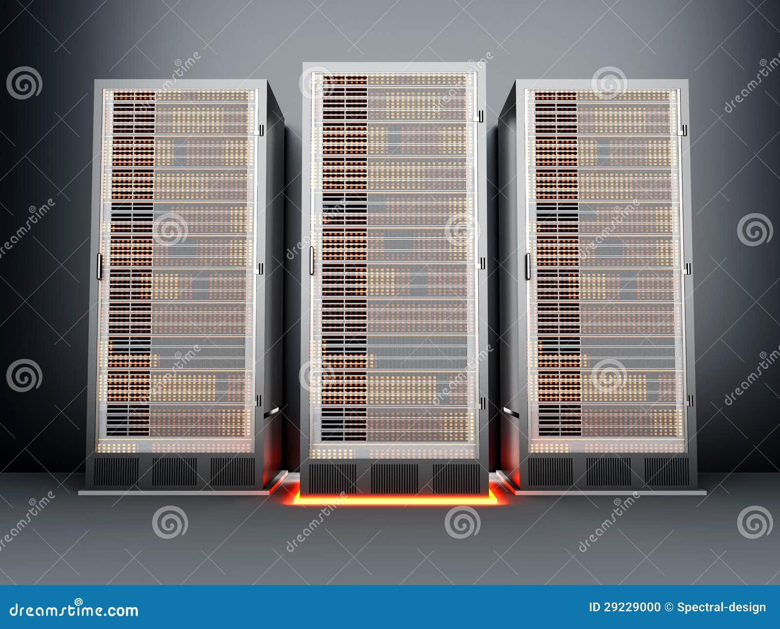 Download Sala do server do metal ilustração stock. Ilustração de polegada - 29229000