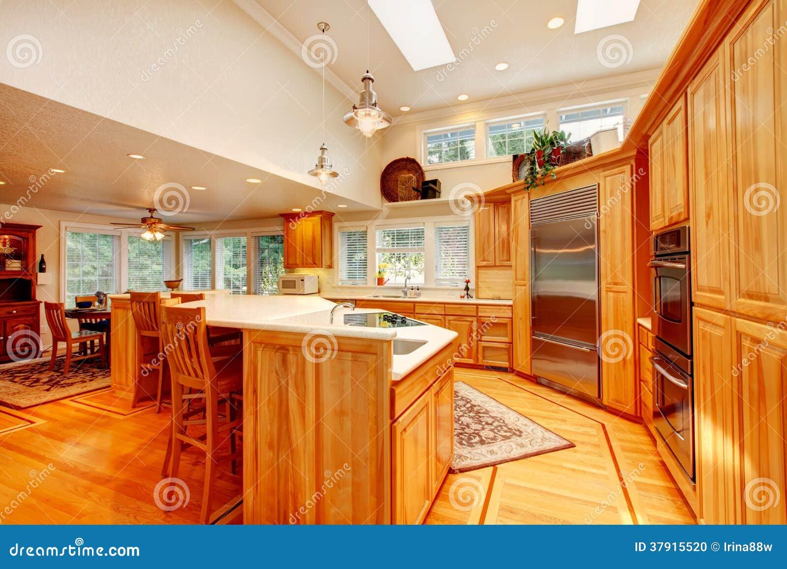 Stock: Sala e o espaço para refeições modernos bonitos da cozinha #C04007 1300 957