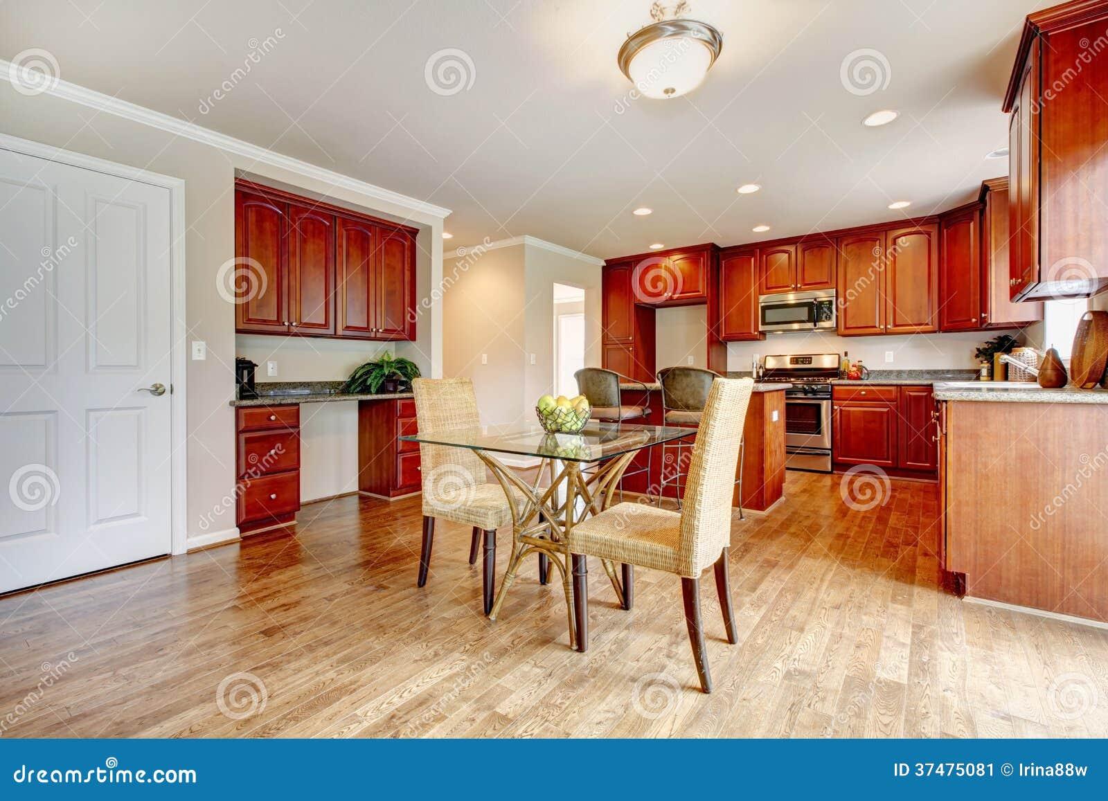 #B33E10 cozinha do assoalho de folhosa com os armários da cereja e grupo de  1300x957 px Planos De Armários De Cozinha_993 Imagens