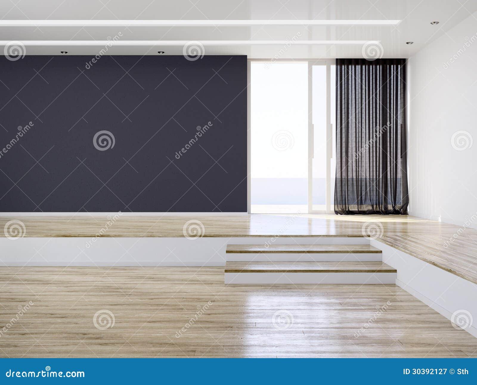 Sala interior moderna vazia