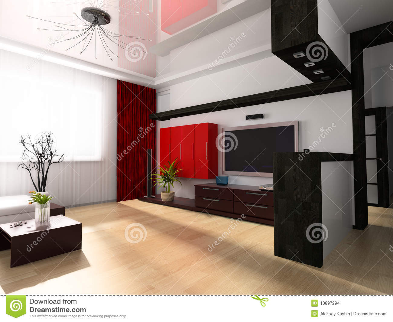 sala moderna imagenes de archivo imagen 10897294. Black Bedroom Furniture Sets. Home Design Ideas