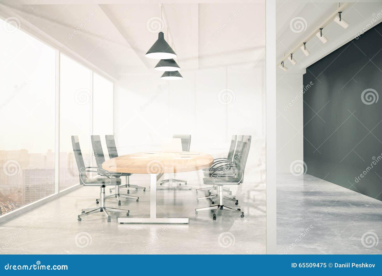 Parete Di Lavagna Prezzo : Sala riunioni con la parete di vetro lavagna tavola di legno