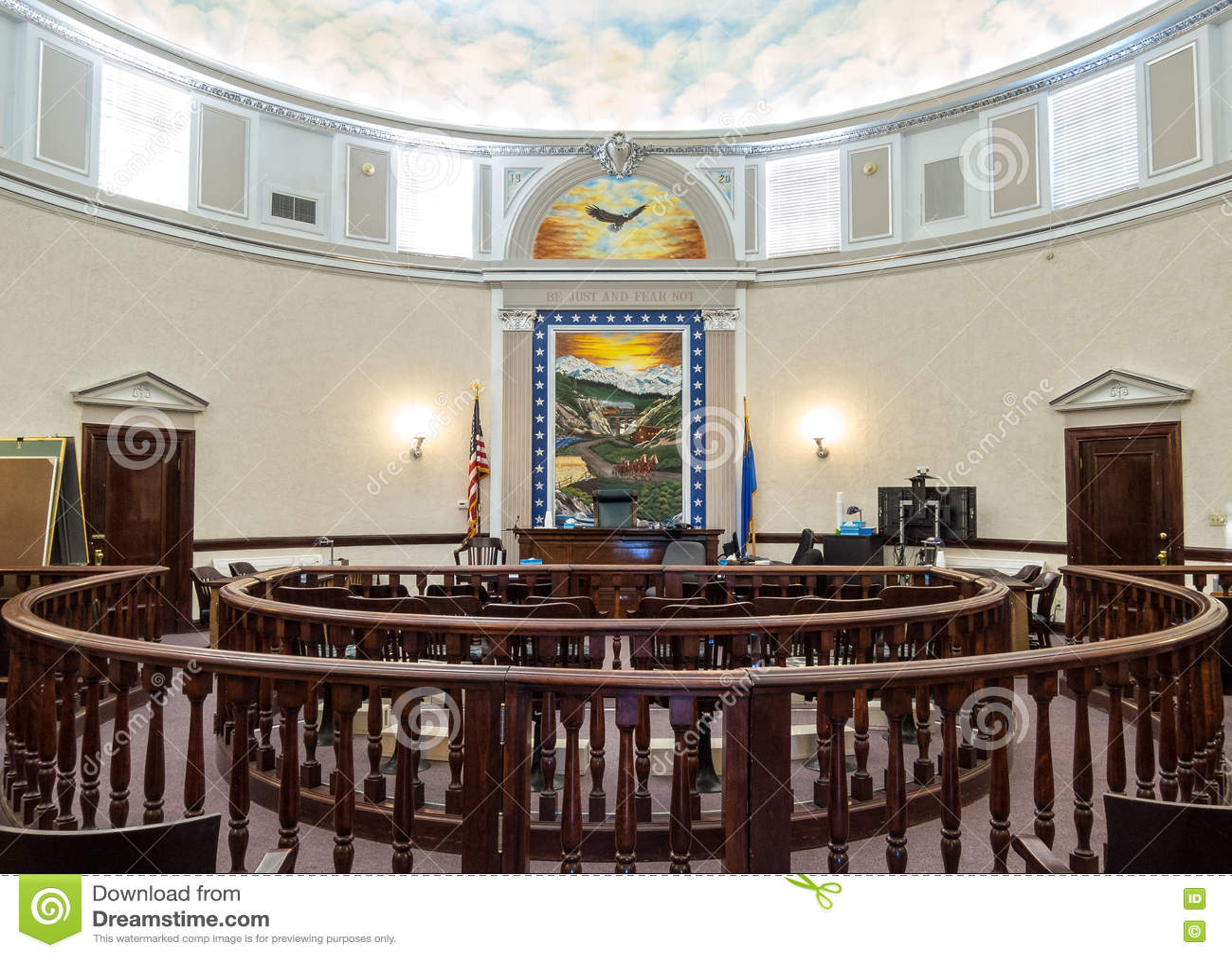 Sala sądowa, Pershing okręgu administracyjnego, Nevada gmach sądu
