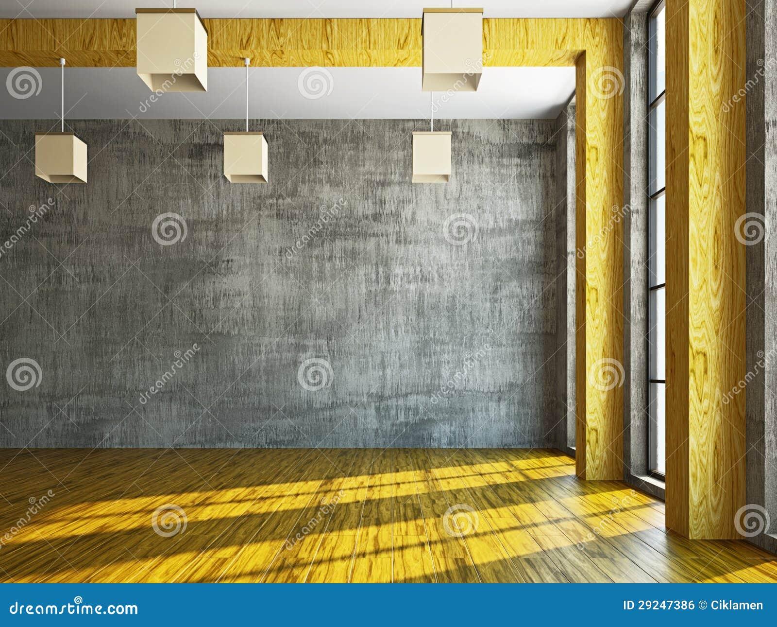 Download Sala vazia com indicador ilustração stock. Ilustração de propriedade - 29247386