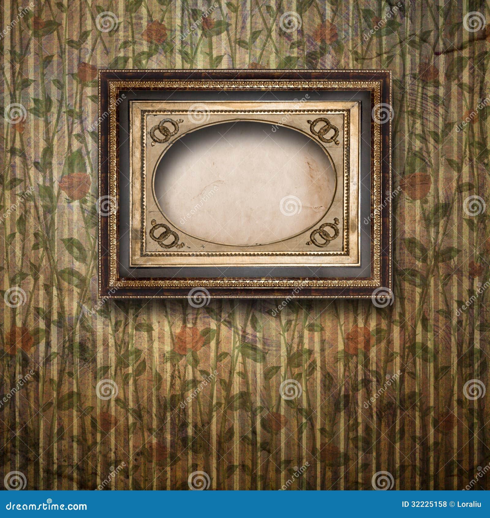 Download Sala Velha, Interior Do Grunge Com Quadro Foto de Stock - Imagem de interior, ornamental: 32225158