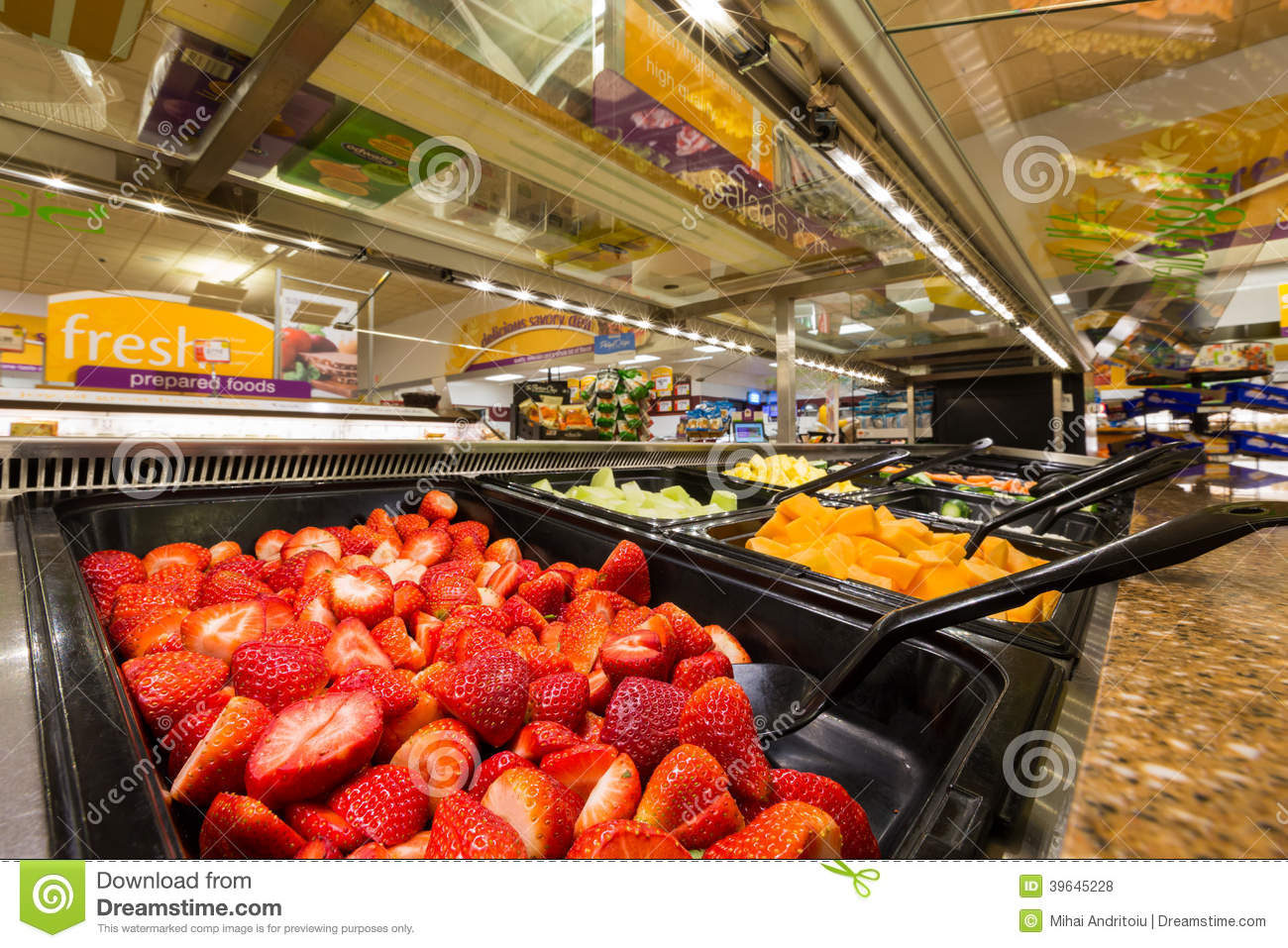 Salad bar in an american supermarket editorial stock photo for Food bar health