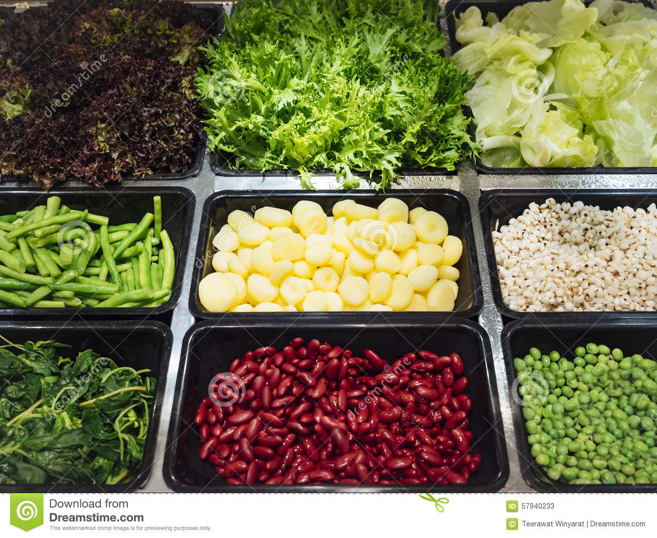 http://thumbs.dreamstime.com/z/salad-bar-fresh-vegetables-healthy-food-sliced-top-view-red-bean-pea-water-chestnut-millet-57940233.jpg