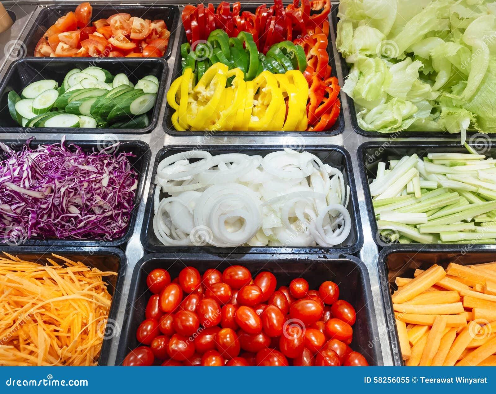 Salad bar fresh vegetables healthy food stock photo for Food bar health